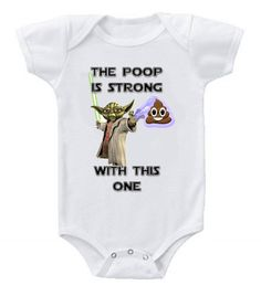 NEW Cute Funny Star Wars Yoda Baby Bodysuits Onesie Force Is Strong One Piece