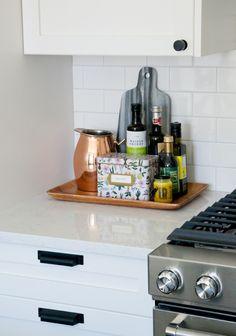 Beau Flat Black Top Knobs Hardware Adds Charm To One Room Challenge Kitchen.  Kitchen Cabinet PullsKitchen ...