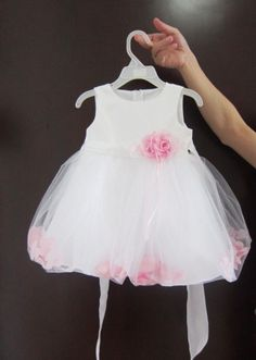 2013 New Fashion Petal Girls Dresses Princess Dress Pink / White Baby girl dress Toddler Dress freeshipping-in Dresses from Apparel & Access...