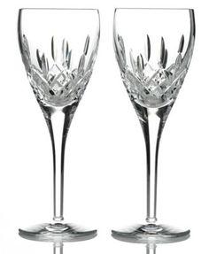 Waterford Stemware, Lismore Nouveau Goblets, Set of 2 - Shop All Glassware & Stemware - Dining & Entertaining - Macy's