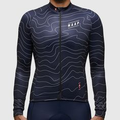 Contour Long Sleeve Jersey Navy #velo #bike #cyclisme #cycling #TwittCyclos