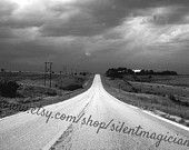 Stormy Midwest Open Road Through Farm Fields Black and White Photo DIGITAL DOWNLOAD https://www.etsy.com/listing/223862723/stormy-midwest-open-road-through-farm?ref=tre-2725210679-5