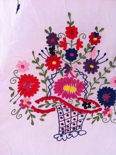 Vintage-jurk mexicano-vestido colores-vestido door VintageBeachHut