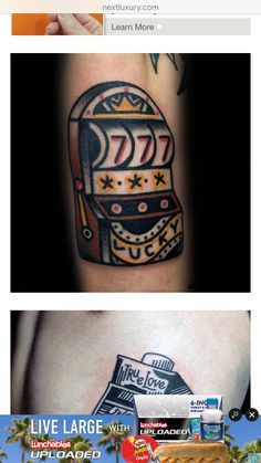 adfd709d7 30 Slot Machine Tattoo Designs For Men - Jackpot Ink Ideas | INK ...