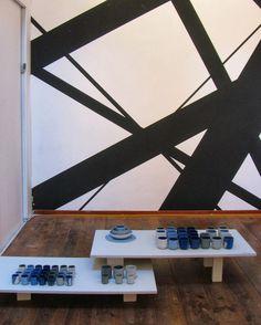 Inside Design Amsterdam, at Walls Gallery, work by David Derksen, Mae Engelgeer and Jeroen van Leur
