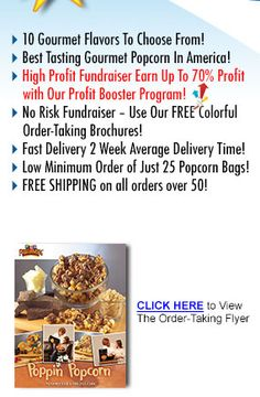 Popcorn Fundraiser Benefits