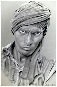 #charcoal #graphite pencils #chalk #portrait