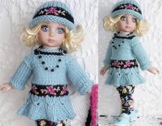 """SWEATER,HAT,LEGGINGS&SHOE SET MADE FOR TONNER PATSY & SAME SIZE10"""" DOLL"""