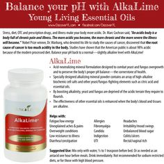 Young Living Essential Oils | Balance your pH with AlkaLime
