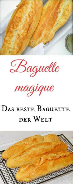 The best baguette in the world is called Baguette Magique and is made in a few minutes (with or without Thermomix). It should go a bit, so it really becomes the world& best baguette. Yummy Recipes, Pizza Recipes, Grilling Recipes, Yummy Food, Bread Recipes, Pan Relleno, Tasty Bread Recipe, Vegan Bread, Food Blogs