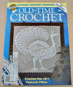 filet+crochet+patterns+free | Old-Time Crochet Summer 1989 Pattern Magazine Filet Crochet Patterns ...