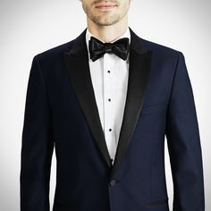 Midnight Blue Peak Lapel Tuxedo for Groom and/or Groomsmen on Wedding