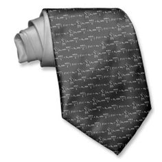 Fourier series algebra equation tie on black background for formal party wear .Customize background color as desired. Classic and elegant gift for the loved one at christmas and other holidays.One of the many elegant ties from the gift ties collection at Zazzle store nadil2.