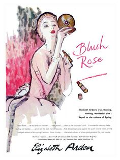 Blush Rose, Vintage Cosmetics Advert, 1949