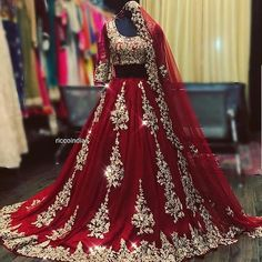 May 2020 - Embroidered red georgette Lehenga choli dupatta party wear wedding wear bridal lengha blouse indian dress lengaha choli custom stiched dress Asian Bridal Dresses, Pakistani Wedding Outfits, Indian Bridal Outfits, Pakistani Bridal Wear, Pakistani Wedding Dresses, Indian Dresses, Punjabi Wedding, Indian Bridal Fashion, Designer Bridal Lehenga
