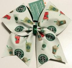 Bows by April - White Glitter Full Starbucks Cheer Bow Frappe, Latte, Iced Coffee, and Refresher, $18.00 (http://www.bowsbyapril.com/white-glitter-full-starbucks-cheer-bow-frappe-latte-iced-coffee-and-refresher/)