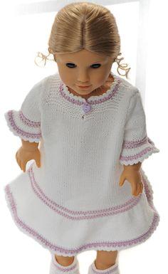 Tricot pour poupées - De jolies tenues de nuit pour votre poupée