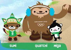 Mascotas de los Juegos Olímpicos de invierno Vancouver 2010 en Canadá