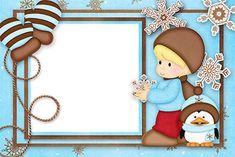 Cute Christmas: Free Printable Invitations or Cards. Christmas Border, Christmas Frames, Christmas Cards, Boarders And Frames, Text Frame, Christian Pictures, Free Printable Invitations, Winter Images, First Birthday Photos