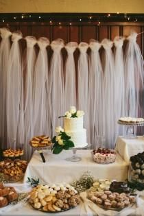 Wedding Backdrop/Alter Decor Toiling on twine and could do some burlap ties in between