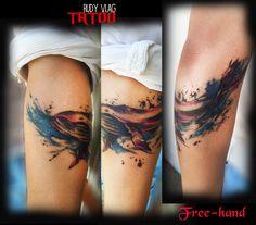 Ballenita en el brazo :3  Diseño Propio. Tattoo improvisado al momento