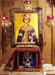 Great Martyr St. Irene relics rest in the eastern part of the nave of St. Basil the Great Orthodox Church