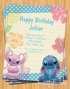 Lilo and Stitch Birthday Party Invitations