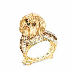 Shih Tzu Best In Show Sculpted Women's Ring