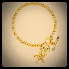 """Spotted while shopping on Poshmark: """"JUICY COUTURE STARFISH WISH BRACELET""""! #poshmark #fashion #shopping #style #Juicy Couture #Jewelry"""