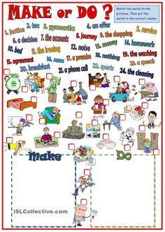 Make or Do - collocations #Englisch #Unterricht #Englischunterricht