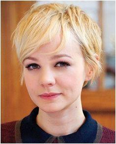 Loura bonito penteados para cabelos finos: Pixie Haircuts 2015