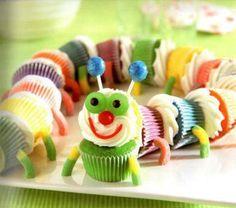 Gusanito hecho con cupcakes