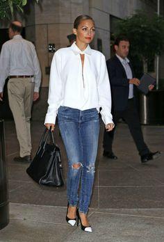 Nicole Richie Style Fashion Balenciaga Saint Laurent