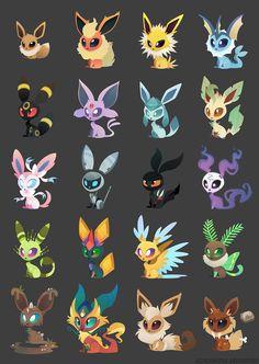 Possible adorable eeveelutions!-Possible adorable eeveelutions! Possible adorable eeveelutions! Pokemon Fan Art, Pokemon Go, Pokemon Film, Pokemon Fusion Art, Pokemon Funny, Pokemon Memes, Pokemon Stuff, Cute Animal Drawings, Kawaii Drawings