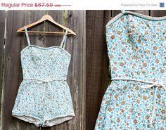 SUMMER SALE Vintage 50s Swimsuit Bathing Suit by ShopVintageMinnie