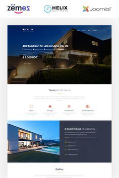 Iestier Joomla template is a great option for any real estate or property rental website. It was developed to present apartments, houses and other types of Real Estate Website Templates, Web Design Software, Joomla Templates, Change Image, Real Estate Agency, Website Design Inspiration, Apartments, Houses, Modern