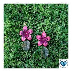 """Brincos da """"Coleção Flora Brasileira"""", ecojoias inspiradas nas incríveis…"""