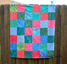Soft and snuggly flannel blanket for baby or toddler | rsislandcrafts - Quilts on ArtFire