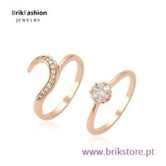 Conjunto de anéis banhado ouro rosa Gold Rings, Rose Gold, Engagement Rings, 1, Jewelry, Bath, Fence, Copper, Jewellery Making