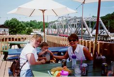 10 min away Bridges Waterside Grill - good for watching the boats and rotating Amtrak bridge - fun restaurant with the kids