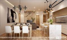 Thiết kế nội thất Yên Hòa Condominium căn hộ CH6