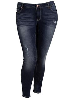 Womens Plus The Rockstar Distressed Jeggings @ Old Navy