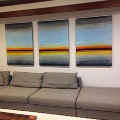 Delivered the abstract sunset yesterday to its new and happy home :) #art #abstract #sunset