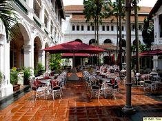 out door dining | Raffles Hotel ( Restaurant Outdoor Dining Area )