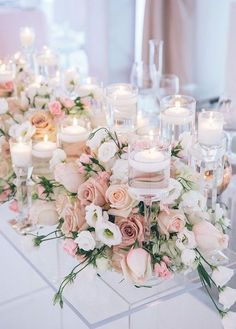 Image result for romantic floral table centrepiece