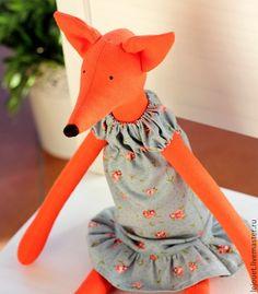 Купить Лиса. Лисичка. Игрушка лиса - лиса игрушка, лиса в платье, рыжая лиса