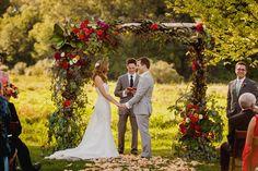 A Rustic Farm Wedding and Tent Reception at Misty Farm in Ann Arbor, Michigan