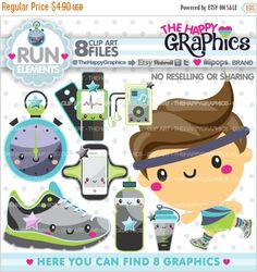 80%OFF - BIG SALE Run Clipart, Run Graphic, Commercial Use, Kawaii Clipart, Runner Party, Planner Accessories, Runner Clip Art, Sport Clipar