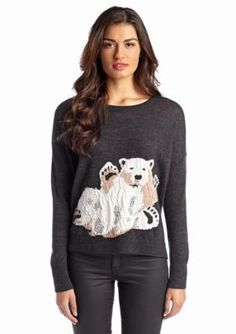 French Connection  Polar Fun Long Sleeve Sweater