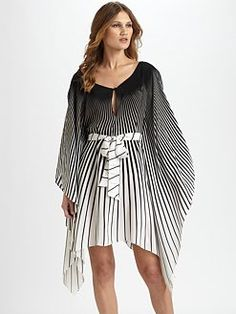 love this silk Caftan!! Black And White Design 385d6095af6